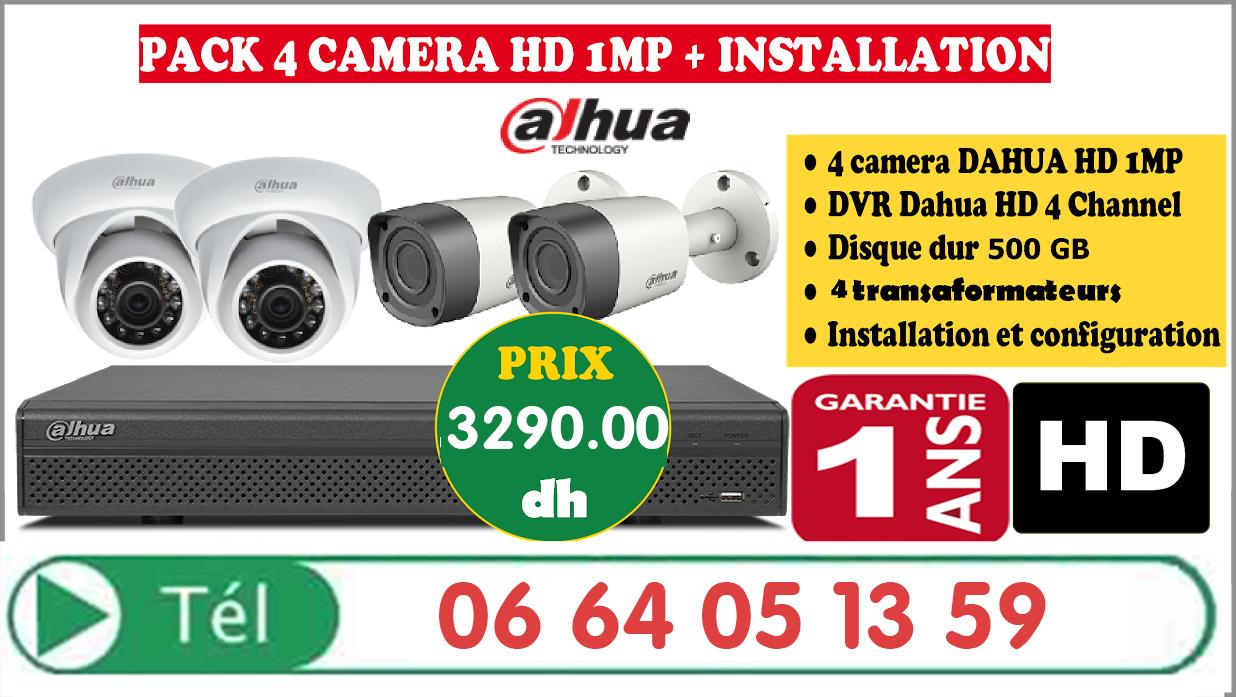 Promotion Pack De 4 Caméras De Surveillance Hikvision + Installation + Garantie 1 AN