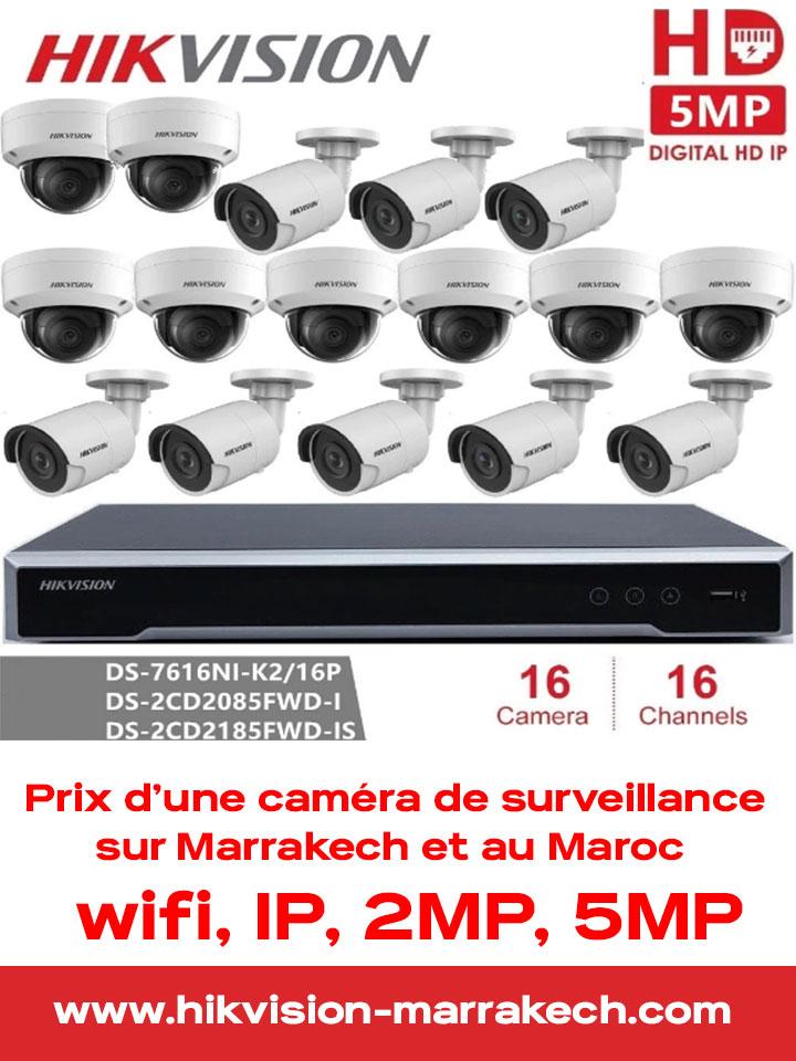 Prix D'une Caméra De Surveillance IP, 2MP, 5MP à Marrakech Et Au Maroc.
